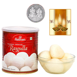 Rosgulla with Silver Plated Coin