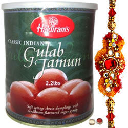 Pretty Rakhi And Gulab Jamun From Haldiram