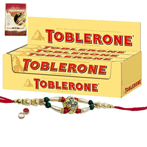 Delightful Toblerone with Free Nice Rakhi, Roli , Tilak and Chawal