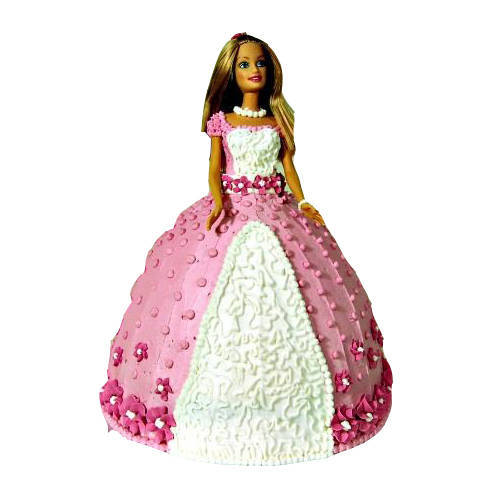 Lip Smacking Barbie Cake