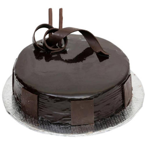 Chocolate Coated 3/4 Star Bakery s 1 Lb Dark Chocolate Cake