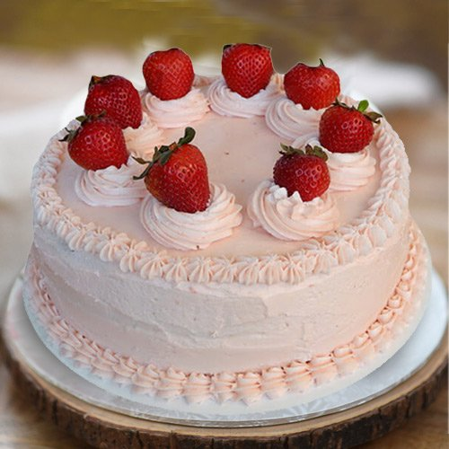 Indulgent 1 Lb Strawberry Cake from 3/4 Star Bakery