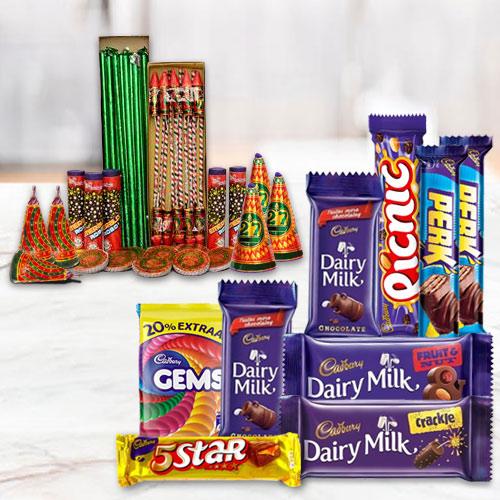 Dazzling Combo of Assortment Cadbury Chocolates and Crackers