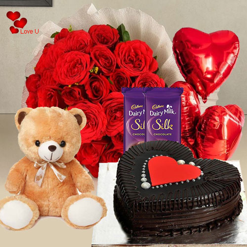 Deliver Combo Gift Hamper for V-Day Online