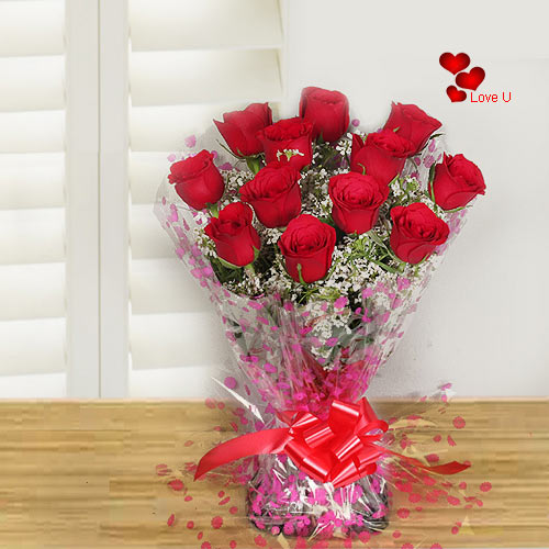 Gift Online V- Day Special Red Rose Bouquet