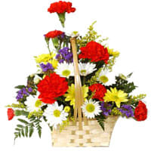 Designed Multi Colored Carnations and Gerberas Arrangement