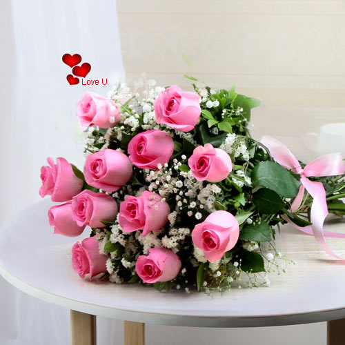 Order Online Pink Roses Bouquet