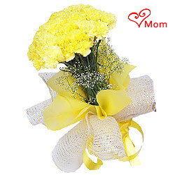 Joyful Display of Yellow Coloured Carnations