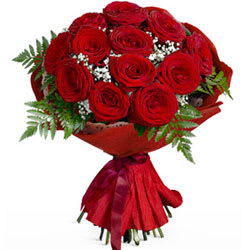 Sweet Surprises One Dozen Roses Bouquet