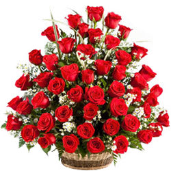 Artful Pure Passion Basket of Red Roses