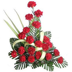 Passionate Full of Love Red Colour Carnations Arrangement
