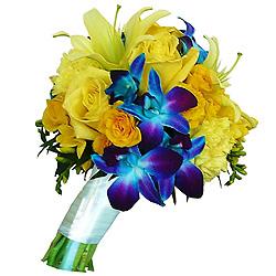 Zesty Bouquet of Brilliant Blossoms