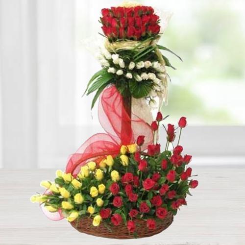 Refined Arrangement of Luminous Roses