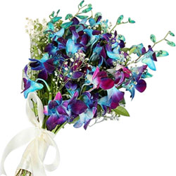 Impressive Blue Orchids Bouquet