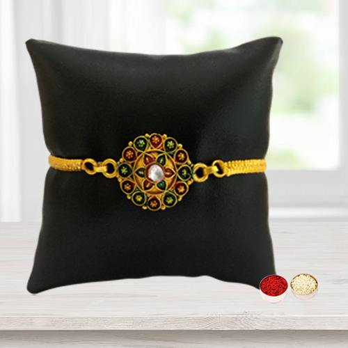 Elegant Gold Plated Rakhi