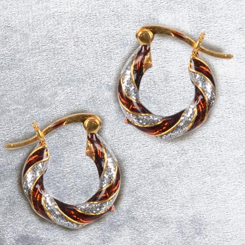 Lovely Gold Toned Metal Looped Earrings Set