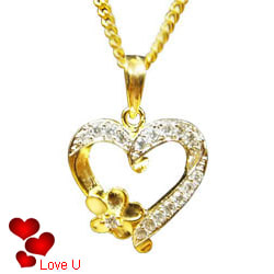 Angelic Heart Shaped Pendant