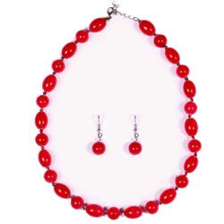 Designer Necklace Set with Beads Design