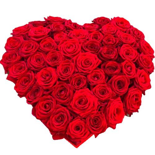 <u><font color=#008000> MidNight Delivery : </FONT></u>:200 Red Roses in Heart Shape Arrangement