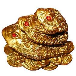 Lucky Feng Shui Triple Frog