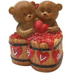 Breathtaking Couple Teddy with a Heart