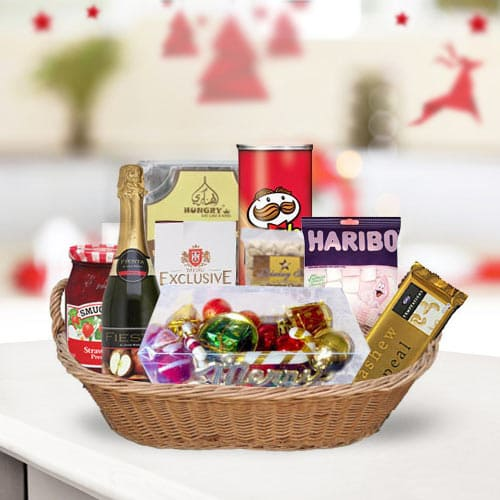 Appealing Anniversary Gift Basket for Couples<br>