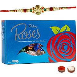 Cadbury Roses 450g And Rakhi Combo