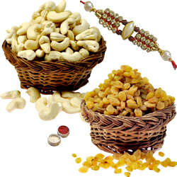 1 Rakhi with 200 Gms Dry Fruits