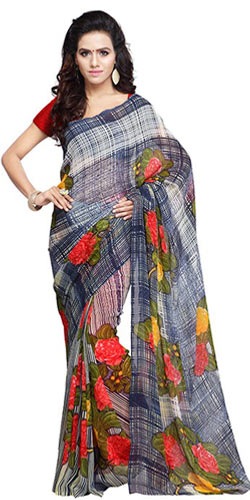 Comfy Georgette Printed Saree
