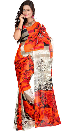 Raffish Enigma Faux Georgette Saree