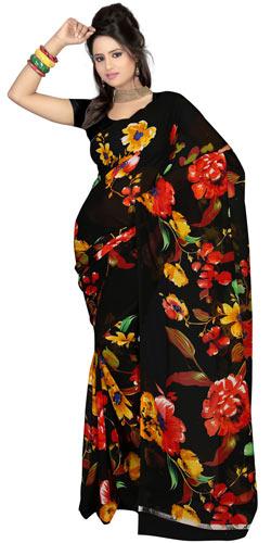 Impressionable Faux Gorgette Printed Saree