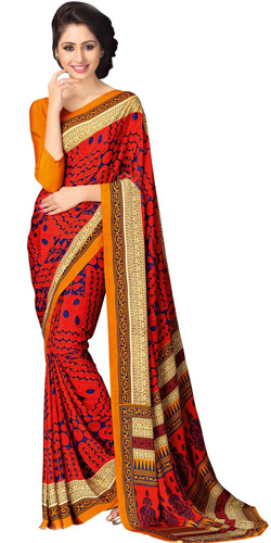 Chic Crepe Saree
