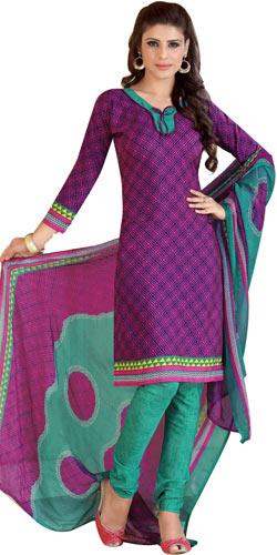 Elegant Women�s Siya Collection Crepe N Chiffon Printed Salwar Suit