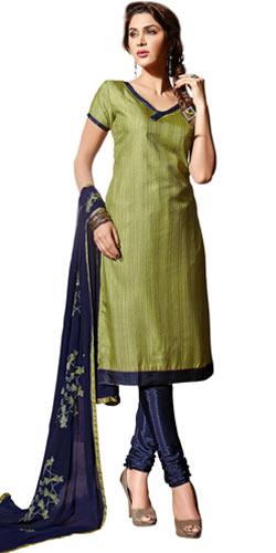 Shiny Eclat Santoon Silk Salwar Suit
