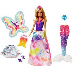 Stylish 3-in-1 Rainbow Color Barbie Kit for Little Angel from Mattle
