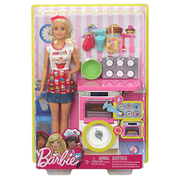 Wonderful Kids Delight Playset of Barbie Bakery Chef Doll