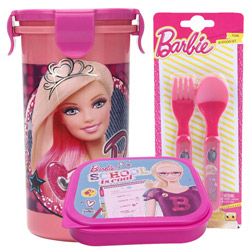 Remarkable Lunch Break Barbie Pattern Tiffin Set