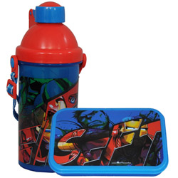Fabulous Fun Meal Avenger Pattern Tiffin Set