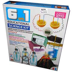 Memorable 6 in 1 Educational Science Kit for Fun Experiments