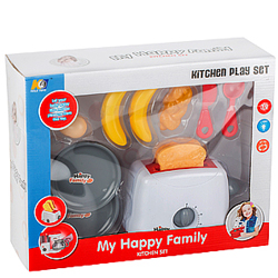 Stylish Gift of My Happy Family Toaster Play Set for Cute Little Child
