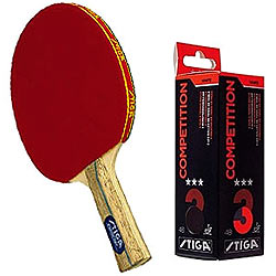 Enjoy Sport with Stiga  Table Tennis Racquet 2pcs set,Stiga Competition 3 Star Table Tennis Ball - 3