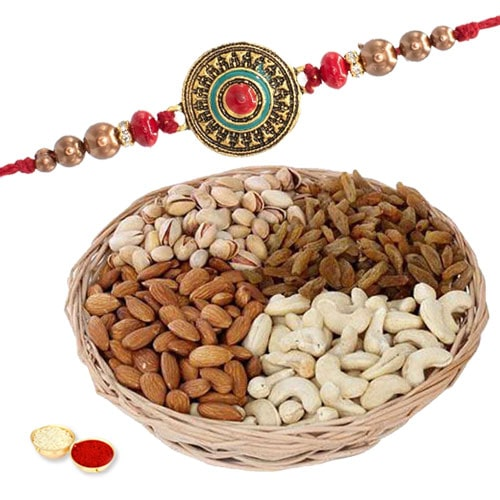 One or More Premium Rakhi with Dry fruits