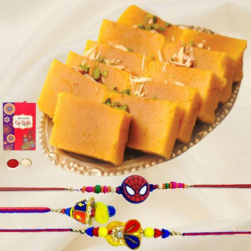 Pack of 3 Delightful Rakhi Combo