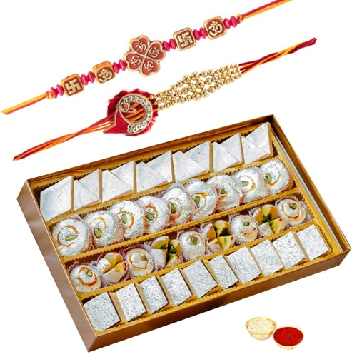 4 Rows of Festivity Rakhi Hamper