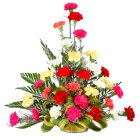 Artistic 30 Mixed Carnations in a Beautiful Bouquet