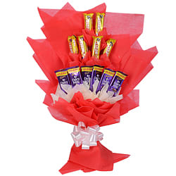 Lip Smacking Bouquet of Six Cadbury Dairy Milk N Six Cadbury Five Star
