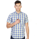 Designer Peter England Checkered Shirt for Men