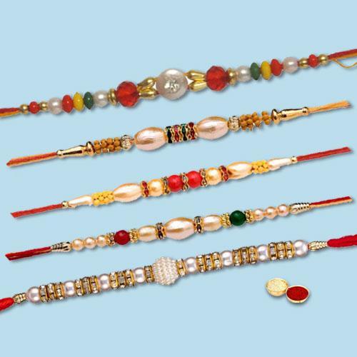 Traditional Family Pack 5 Rakhi Gift Set
