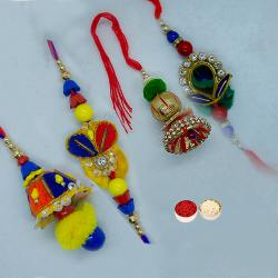 Fantastic Bhaiya Bhabhi Rakhi Set with Stunning Design