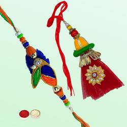 Lovely Rakhi for Bhaiya Bhabhi Rakhi with Happiness